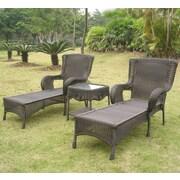 Fleur De Lis Living Yvette 3 Piece Chaise Lounge Set; Antique Black