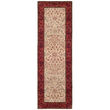 Rosalind Wheeler Batch Ivory/Rust Area Rug; Runner 2'6'' x 8'
