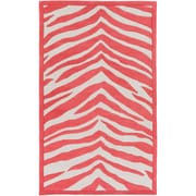 Zoomie Kids Alvin Hand-Tufted Bright Pink/Ivory Area Rug; 3' x 5'