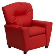 Zoomie Kids Candy Kids Recliner w/ Cup Holder; Vinyl - Red