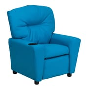 Zoomie Kids Candy Kids Recliner w/ Cup Holder; Vinyl - Turquoise