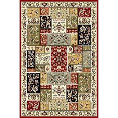 Astoria Grand Barton Red/Ivory Area Rug; 9' x 12'