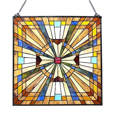 Astoria Grand Charlotte Square Glass Window Panel