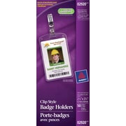"Avery 2920 Name Badge Holders, Portrait 2 1/4"" x 3 1/2"", 50/Pack"
