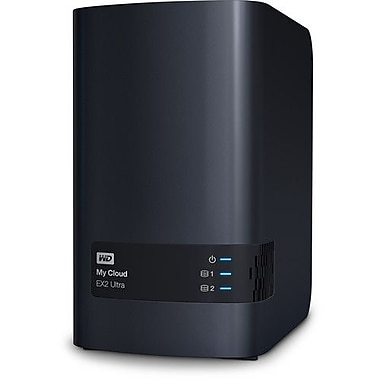 WD – Dispositif de stockage en réseau My Cloud EX2 Ultra, version sans disque (WDBVBZ0000NCH)