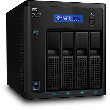 WD My Cloud EX4100 Network Attached Storage, 16 TB (WDBWZE0160KBK)