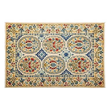 Darya Rugs Suzani Hand-Knotted Multicolor Area Rug