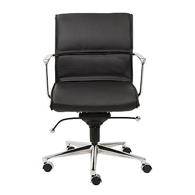 Varick Gallery Keever Contemporary Metal Desk Chair; Black