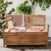 One Allium Way Brisbane Acacia Garden Bench; Teak Brown