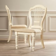One Allium Way Halton Side Chair (Set of 2); Antique White