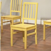 One Allium Way Carolina Side Chair (Set of 4); Yellow