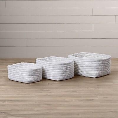 One Allium Way 3 Piece Nesting Basket Set; Gray