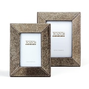 Union Rustic 2 Piece Natural Cowhide Picture Frame Set