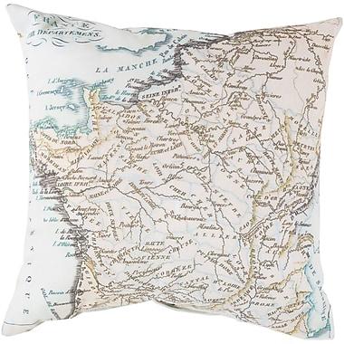 Alcott Hill Winstead White Bead Outdoor Throw Pillow; 26'' H x 26'' W x 4'' D