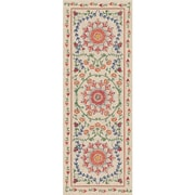 August Grove Kena Coral Indoor/Outdoor Stain Area Rug; Runner 2.5' x 7'