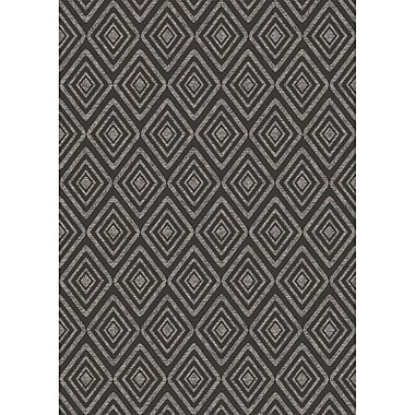 Ruggable Prism Black Indoor/Outdoor Area Rug; 5' x 7'