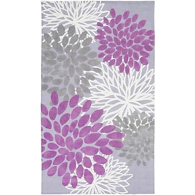 Ebern Designs Odele Lavender/Gray Area Rug; 2' x 3'