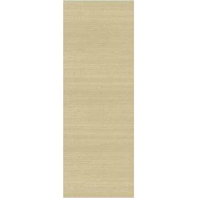 Ruggable Solid Textured Cream Indoor/Outdoor Area Rug; Runner 2.5' x 7'