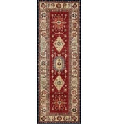 Charlton Home Richfield Ruby Indoor/Outdoor Area Rug; Runner 2.5' x 7'