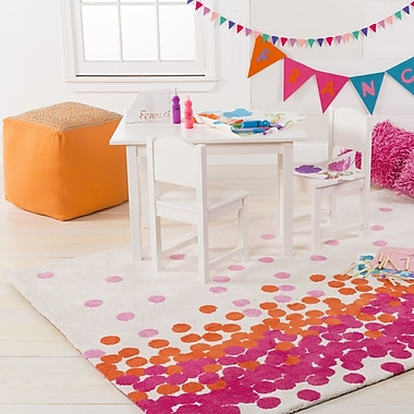 Harriet Bee Clive Hot Pink/Carnation Area Rug; 2' x 3'