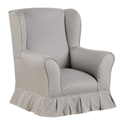 Harriet Bee Colewood Skirted Wing Kids Cotton Club Chair