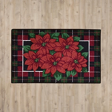 Charlton Home Red/Green Area Rug