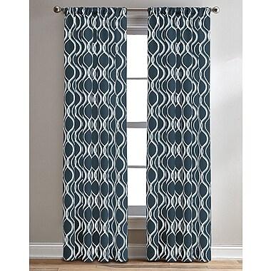 Winston Porter Ria Ogee Geometric Semi-Sheer Rod Pocket Single Curtain Panel