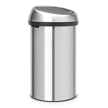 Brabantia 16 Gallon Touch Top Matt Steel Trash Can