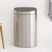 Brabantia 10.5 Gallon Touch Top Matt Steel Trash Can