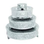 One Allium Way Lincoln 4 Piece Aluminum Cake Stand Set