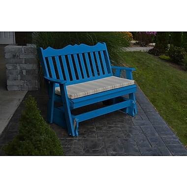 Red Barrel Studio Nicholas English Gliding Bench; Blue
