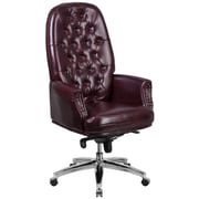 Red Barrel Studio Parnassus High Back Traditional Tufted 29'' Leather Swivel Executive Chair