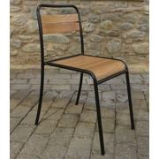 Furniture Designhouse French Cafe Bistro Chestnut Wood Dining Side Chair (Set of 2)