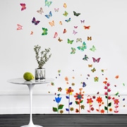 Walplus Colorful Flowers and Butterflies Wall Decal