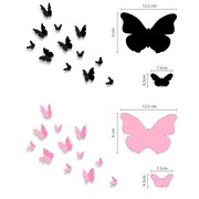 Walplus Blossom and 3D Butterfly Wall Decal