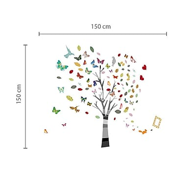 Walplus Colorful Photo and Butterflies Wall Decal