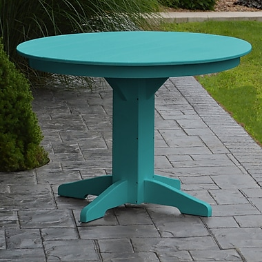 Red Barrel Studio Nettie Dining Table; Aruba Blue