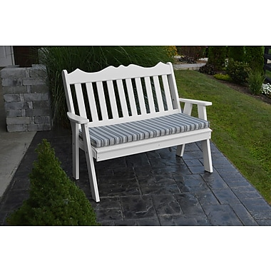 Red Barrel Studio Nicholas English Garden Bench; Bright White