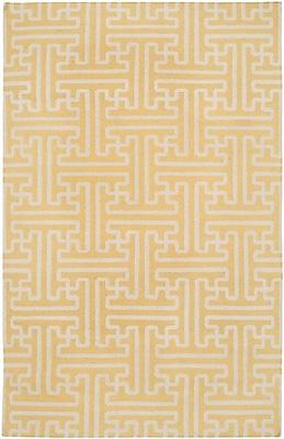 Bloomsbury Market Brinda Gold & Ivory Area Rug; 8' x 11'