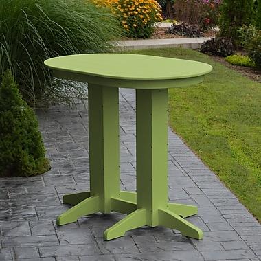 Red Barrel Studio Nettie Bar Table; Lime Green