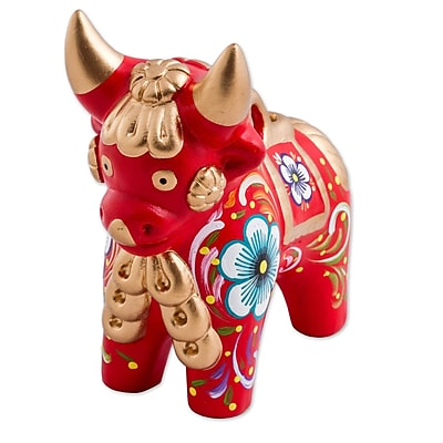 Bloomsbury Market Kester Pucara Bull Ceramic Figurine