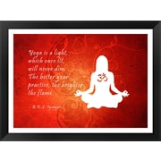 Bloomsbury Market 'Yoga Quote' Framed Textual Art