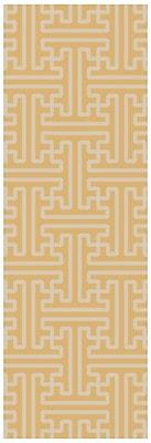 Bloomsbury Market Brinda Gold & Ivory Area Rug; Runner 2'6'' x 8'