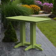 Red Barrel Studio Nettie DiningTable; Lime Green