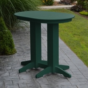 Red Barrel Studio Nettie Bar Table; Turf Green