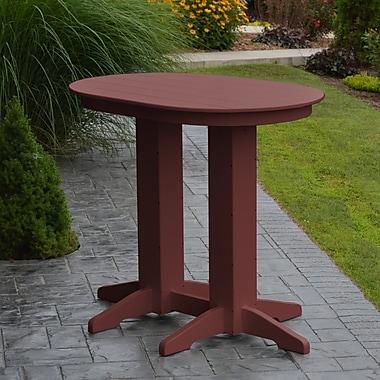 Red Barrel Studio Nettie Bar Table; Cherrywood