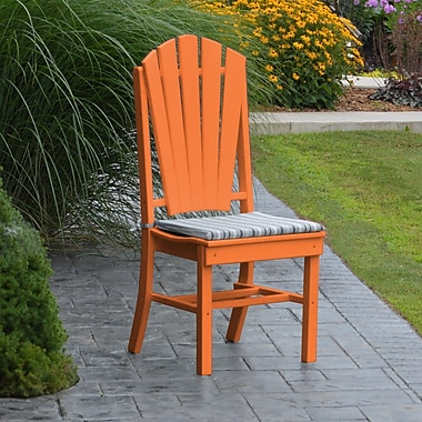 Red Barrel Studio Nettie Dining Side Chair; Orange