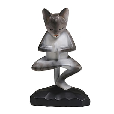 Bloomsbury Market Juba Yoga Kitty Wood Figurine