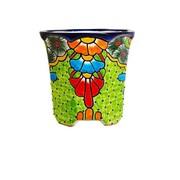 Bloomsbury Market Meyer Hexagonal Talavera Table Vase; 8.5'' H x 8.5'' W x 8.5'' D