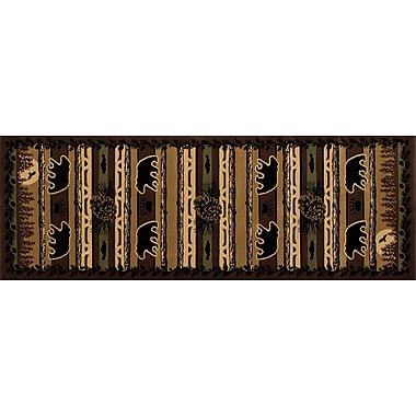 Loon Peak Raritan Grizzly Forest Black Area Rug; 9'2'' x 12'4''